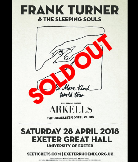 FRANK TURNER EXETER SOLD OUT